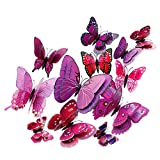 3D Mariposas Pegatinas Decorativas Adhesiva de Pared para Dormitorio...