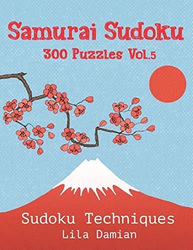 Samurai Sudoku 300 Puzzles Vol.5: Sudoku Techniques Lila Junior Set