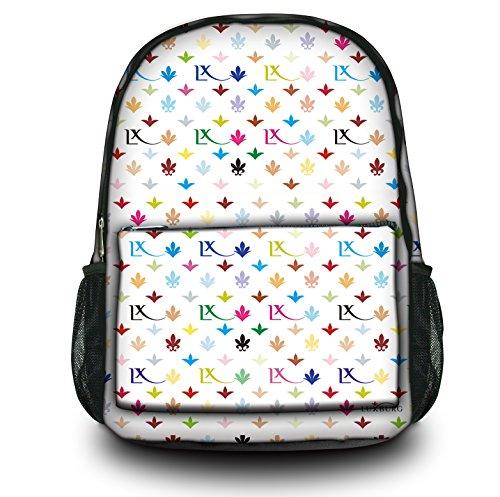 Luxburg® Design Rucksack Multifunktionsrucksack Ranzen Schulranzen Sporttasche Backpack LX Muster weiß