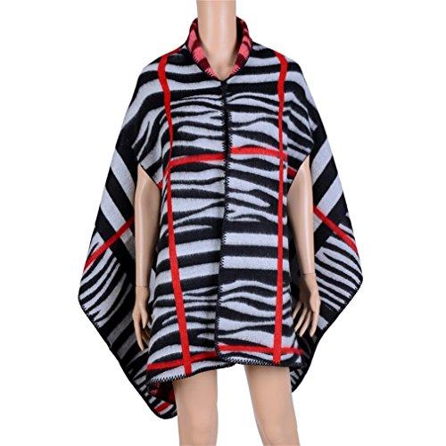 Honghu Cape Poncho Femme Tricot,Poncho Capes Châle Ouverture Extra Large écharpe Châle Poncho Automne Hiver Noir 1