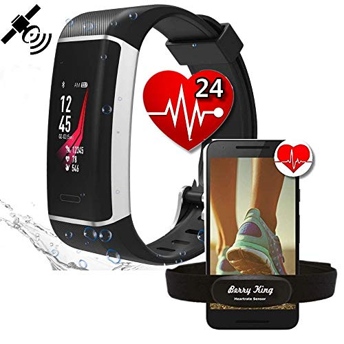 Berry King bestbeans Run-GPS 2019 Herzfrequenz Armband Tracker 24 Sportarten Multisport Wasserdicht Farb-LCD-Display Fitness Aktivität Schrittzähler Kalorien Herzfrequenz-Messer Schlaf-Analyse Wetter