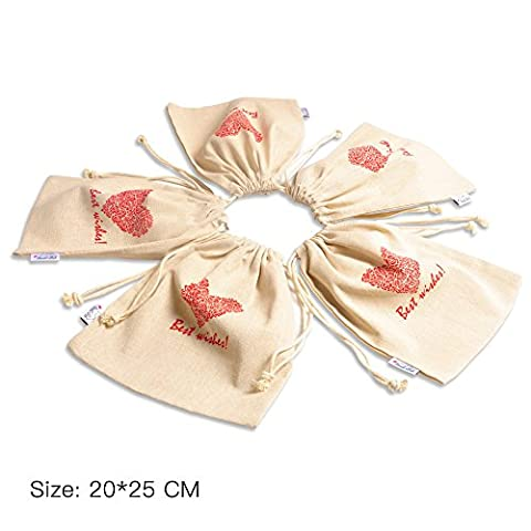 Cotton Drawstring Bags Jewellery Coin Pouch Linen,