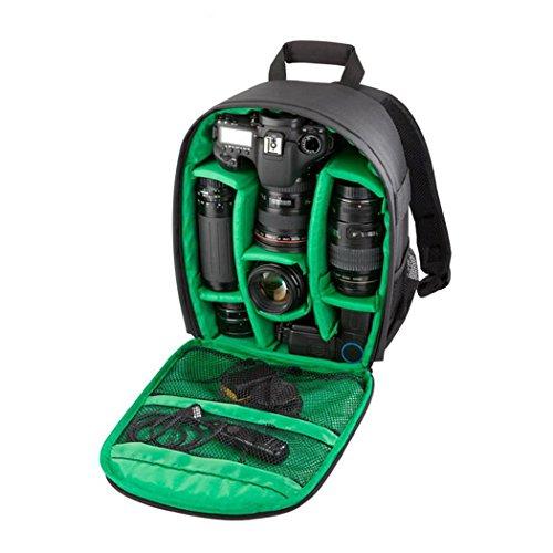 XY-QXZB Zaino della macchina fotografica, grande capacità dello spazio Impermeabile Anti-Scratch Digital Camera borsa 34x25x15 CM , Green