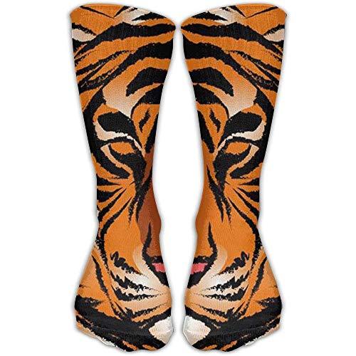 Voxpkrs Striped Bengal Tiger Outdoor Performance Work Crew Socks