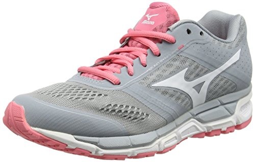 Mizuno Synchro Mx Wos, Scarpe da corsa, Donna, Grigio (Quarry/White/Strawberry Pink), 37