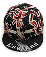 LOCOMO UK Britain Union Jack Flag England Patriot Snapback Cap FFH258BLK