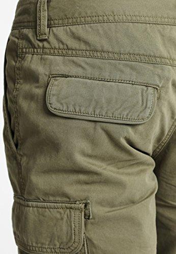 Pier One Pantaloncini da uomo in nero, kaki o blu scuro - Pantaloncini casual da uomo in 100% cotone - Bermuda da uomo con tasche posteriori e laterali in stile cargo Kaki