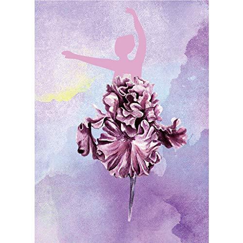 WOBANG DIY 5D Diamant Malerei Kits Kristall Crystal Strass Stickerei Kreuzstich Arts Craft Diamond Painting Bilder Kunst Handwerk Mädchen Ballett Tanzen Kleid für Home Wall (A, 30 x 40 cm) -
