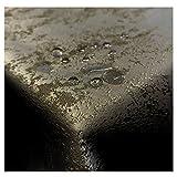 JEMIDI Tischdecke Stofftischdecke melierter Glanz Optik und Lotus Effekt Tafeldecke Tischdecken Decke Tisch Gartentischdecke Anthrazit 135cm x 180cm Oval