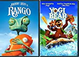 Tango with A Chameleon named Rango Animated Pack Kids + Yogi Bear The DVD Double Feature Family Movie Bundle