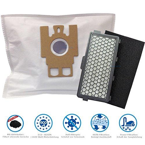 20 Staubsaugerbeutel + 1 Hepa- & 1 Motorfilter geeignet für Miele S 5781 Premium Edition, S5 im Vorteilspack von Microsafe®