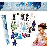 alles-meine.de GmbH 30 Stück: Wandsticker + Bordüre -  Frozen / Disney die Eiskönigin  - selbstklebend + wiederverwendbar - Aufkleber für Kinderzimmer - Wandtattoo / Sticker Ki..