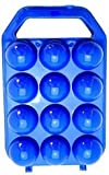 #8: Plastic Egg Carry Tray Holder Carrier Storage Box for 12 Pieces Egg