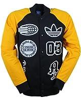 Adidas Collegejacke Men LOGO STADIUM TT S27485 Schwarz Gelb