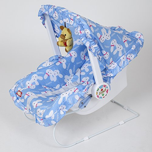 Archana NHR Multipurpose (9 In 1) Baby Carry Cot With Mosquito Net And Sun Shade - Blue