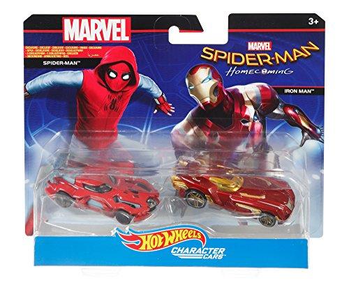 Mattel Hot Wheels dxm16–Marvel Character Car Spiderman 2Unidades