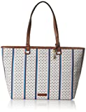 Fossil Damen Damentasche– Rachel Shopper Tote, Mehrfarbig (Ecru Multi Stripe), 10.16x33.02x35.56 cm