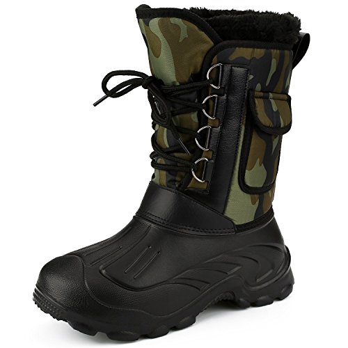 Men's Waterproof Sow Boots Rain Riding Fishing Boot Winter Wellies Short Leg...