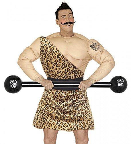 shoperama Aufblasbare Hantel Schwarz 120 cm Langhantel Gewichtheber Kostüm-Zubehör Scheibenhantel Clown ()