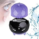 Portable Automatic Contact Lens Ball Mask Washer Cleansing Lenses Cleaner Lens Case, USB Charge(Purple)