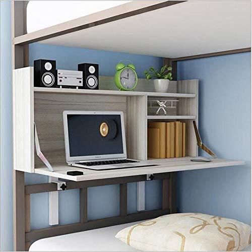 BinLZ-Table Universitätswohnheim Computer Höhenverstellbarer Bettfauler Tisch Einfaches Lernen Kleiner Tisch Optionale Farbe, Weißer Ahorn -