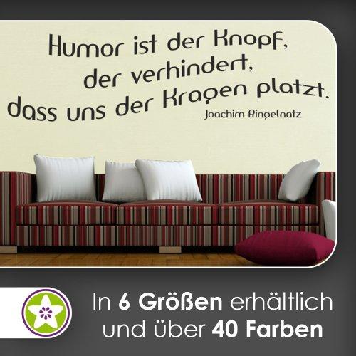 Humor ist der Knopf … Wandtattoo in 6 Größen - Wandaufkleber Wall Sticker