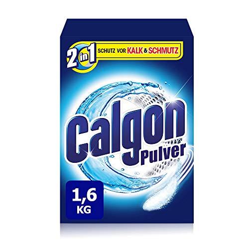 Calgon 2in1 Pulver, Wasserenthärter gegen Kalk & Schmutz in der Waschmaschine, 1er Pack (1 x 1,6 kg) (Tasche Von Kalk)