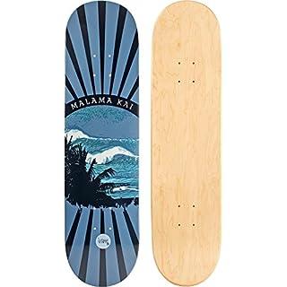 JUCKER HAWAII Skateboard/Cruiser Decks - Nuha, Bamboo, Skowl, B.Inks, Shabby, Malama Kai, Malama Aina, Valley Isle - Diverse Shapes und Designs Skateboard/Cruiser Deck MALAMA Kai 8.0