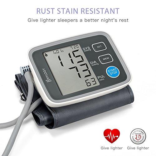 Digitale Blutdruckmessgerät, Hylogy Automatische Oberarm BP Monitor Manschette 8,7 bis 12,6 Zoll, Großbild-Display und 2 Benutzer-Modus 2 * 90 Speicher (schwarz) - 2