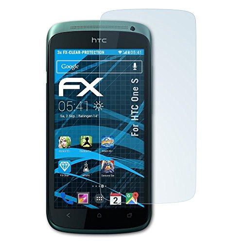 atFoliX Protezione Pellicola dello Schermo Compatibile con HTC One S Pellicola Protettiva, Ultra-Trasparente FX Proteggi Schermo (3X)