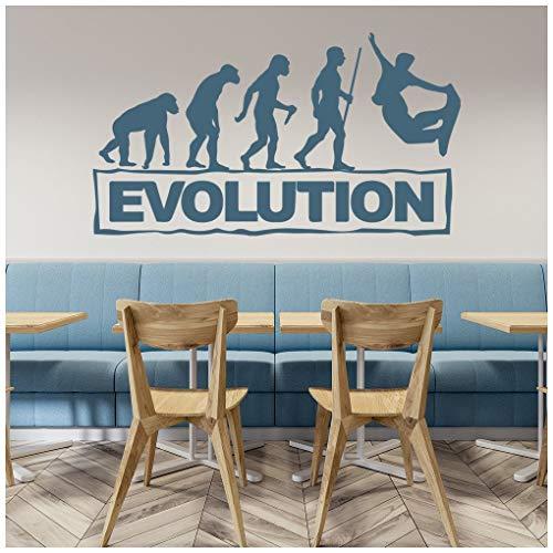azutura Snowboard-Evolution Wandtattoo Extremsport Wand Sticker Jungen Schlafzimmer Dekor verfügbar in 5 Größen und 25 Farben Groß Weiß -