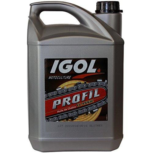 Huile de chaîne filante IGOL pour tronçonneuse et élagueuse - 5 litres