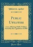 Public Utilities: Laws Affecting Public Utilities Passed by the Legislature of 1907 (Classic Reprint)
