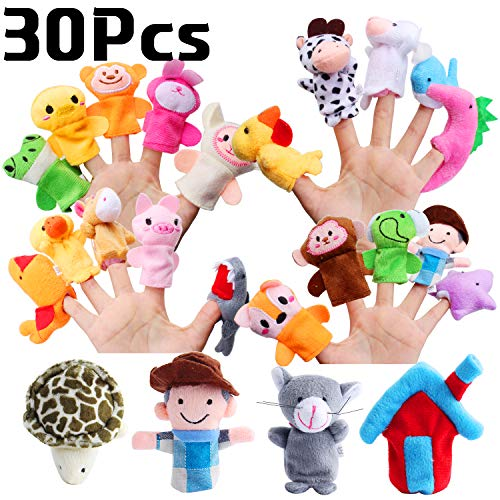 Defrsk 30PCS Animal Finger Puppe...
