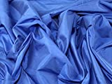 Uni Taft Kleid, Stoff, Meterware, Royal Blau