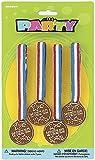 * 4 Gewinner-Medaillen * für eine Mottoparty // 2094 // Goldmedaillen Medaille Fussball Sport Spielzeug Kinder Kindergeburtstag Geburtstag Mitgebsel Geschenk Verkleidung Karneval Fasching