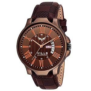 Vills Laurrens Brown(Cofee) Day and Date Men's Watch VL-1125