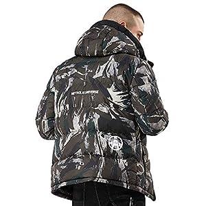 Oasics Camouflage Winterjacke Herren Hoodie Print verdicken warme Baumwolljacke Jacke M-4XL