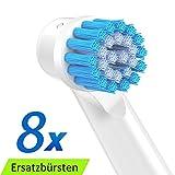 EB17S Sensitive Aufsteckbürsten für Oral B,die Bürstenköpfe wurde nach dem Vorbild professioneller Reinigungsgeräte entwickelt und sorgt für eine zahngenaue Reinigung, 8er Pack, Ersatzbürsten von ITECHNIK
