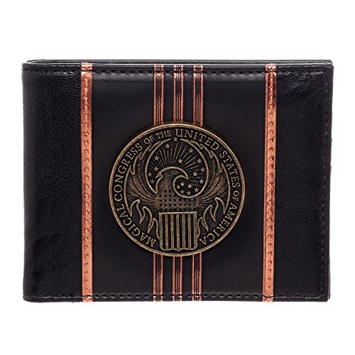 Fantastic Beasts and Where to Find Them Macusa Crest PU Bifold Portafoglio