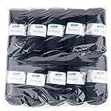 Gründl Shetland, Vorteilspackung 10 Knäuel à 100 g Handstrickgarn, 80% Polyacryl, 20% Wolle, schwarz, 55 x 40 x 10 cm