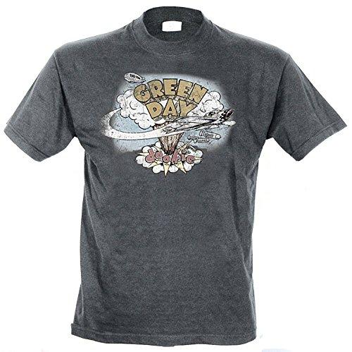 Bravado - Camiseta con cuello redondo de manga corta para hombre, talla 37, color Gris (Grau Grey)