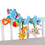 #6: Baby Grow Jollybaby Baby Car Bed Hanging Around Animal Elephant Spiral Activity Toys 0M+