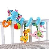 Juguetes Colgantes - HOSIM Elefante Infantil Bebé Actividad Envolvente Espiral Envoltura Cuna Cochecito Cama Cochecito Carril Juguete (Azul)