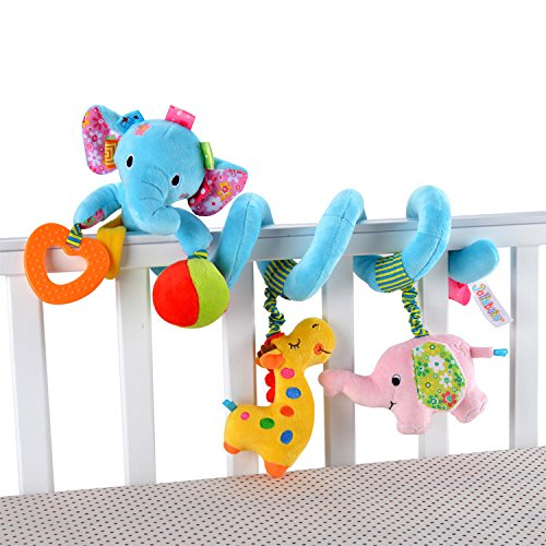 Baby Grow Jollybaby Baby Car Bed Hanging Around Animal Elephant Spiral Activity Toys 0M+