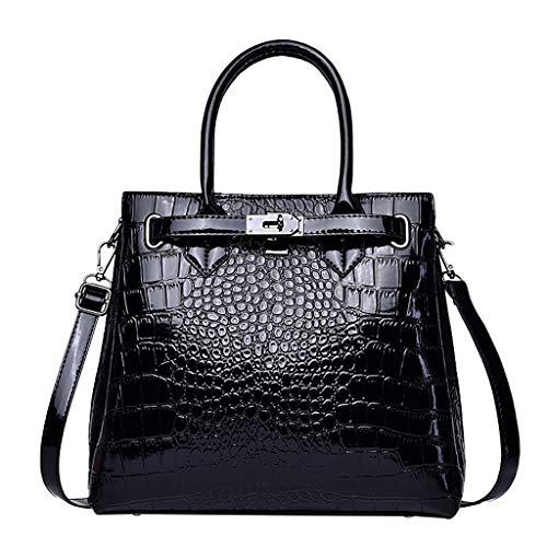 Mitlfuny handbemalte Ledertasche, Schultertasche, Geschenk, Handgefertigte Tasche,Mode Frauen Alligator Handtasche Wild High Capacity Schulter Messenger Bag