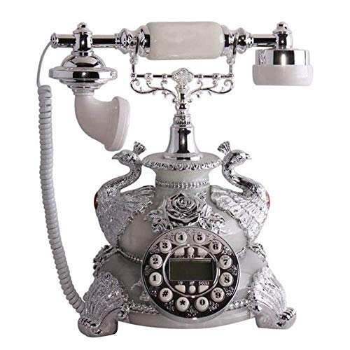 Ldlzjdh Festnetz Telefon-Pfau-Dekoration-Weinlesetelefon-Festnetz-Maschine Retro- europäisches Wohnzimmer gesetztes festes Telefon Festnetz