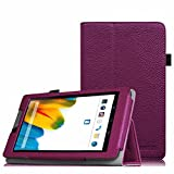 Fintie Odys Connect 7 Pro/Connect 7 Hülle Case - Slim Fit Folio Premium Kunstleder Schutzhülle Cover Tasche mit Ständerfunktion für Odys Connect 7 Pro/Odys Connect 7 17,8 cm (7 Zoll) Tablet-PC, Lila