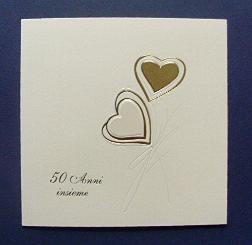 Inviti nozze d'oro 50 anni