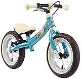 BIKESTAR 2-en-1 Vélo Draisienne Enfants pour Garcons et Filles de 3-4 Ans Vélo sans pédales évolutive 12 Pouces Sportif Croissante Cadre Turquoise